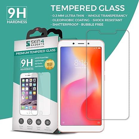 SKIN4GADGETS Xiaomi Redmi 6A Tempered Glass Screen Guard Protector Ultra Strong  9H  Slim Screen guards