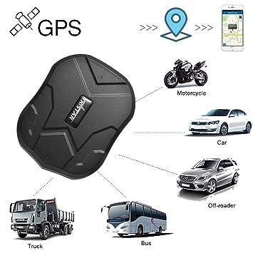 zeerkeer posición GPS para Coche/vehículos/Moto Mediante App Gratuita Tracking Imán Potente y batería de 10000 mAh 90 días Standby (tk905b): Amazon.es: ...
