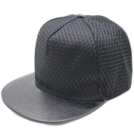 ofndd66 Snapback Cap Baseball Cap Hat Gorras Planas Flat Hip Hop Gorras Black OneSize