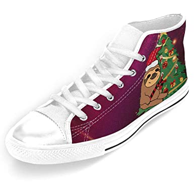 818f53b61758e Amazon.com: Yang Hai Lin Sloth In Santa Hat Christmas Women Men's ...