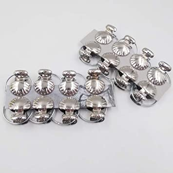 Winomo 8pcs Sea Shell Window Curtain Clips Silver Stainless Steel Shower Rings With