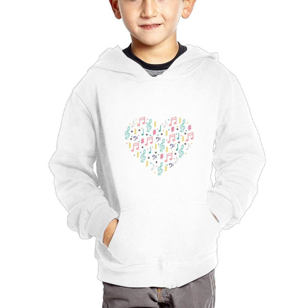 JIANGSHAN Musical Note Personality Hooded Pocket Sweater for Children Spring//Autumn//Winter Outfit Long-Sleeved Hoodie
