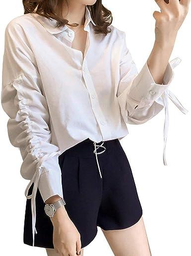 Blusa De Mujer Top Loose Fit Camisa Elegante Basic Blusa Manga Larga Botón De Solapa Leisure Fashion Office Camisa Blusenshirts Ropa: Amazon.es: Ropa y accesorios