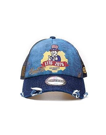 b2e6a371733b77 Fallout Vault 76 Vintage Trucker Cap Baseball Blue, One (Size:One Size):  Amazon.co.uk: Clothing