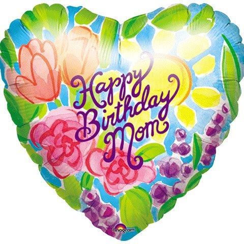 amazon com happy birthday mom heart shaped balloon flowers