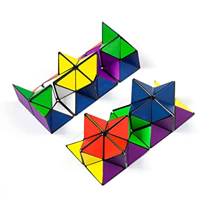 Autrix Magic Star Cube Transforming Geometric Puzzle Toys For Kids And Adults 2 Pieces
