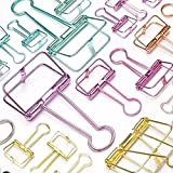 Blinder Clip Metal Hollow Colorful Paper Bill Wire Clips Assorted Size Office School Supplies 20pcs