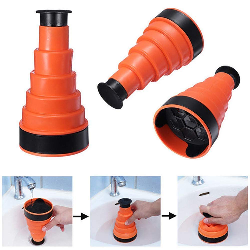 Vektenxi High Pressure Sink Plunger Opener Cleaner Pump for Bath Toilets Bathroom Shower Kitchen Clogged Pipe Bathtub Durable and Useful