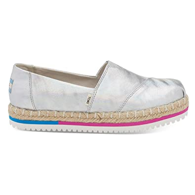 Amazon.com | TOMS Womens Platform Alpargata Iridescent Canvas 7.5 M | Loafers & Slip-Ons