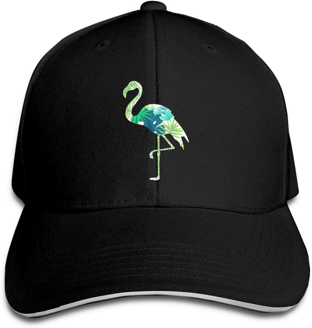 WFIRE Adult Baseball Caps Tropical Leaves Flamingo Custom Adjustable Sandwich Cap Casquette Hats
