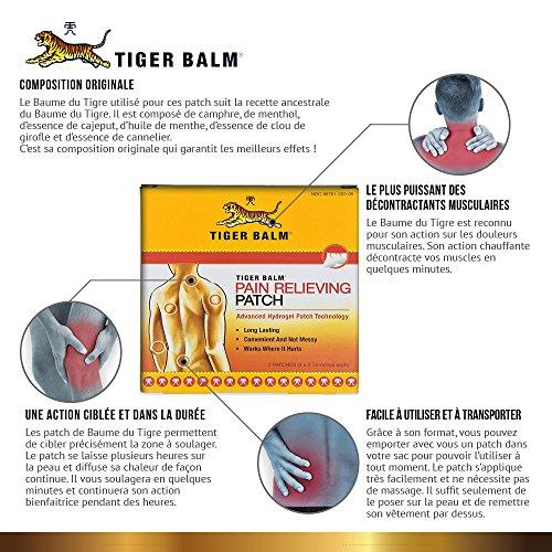 Los parches de Bálsamo del Tigre Rojo - alivia el dolor de inmediato - de larga duración - 10 x 7 cm - paquete de 2 parches - COMPOSICIÓN ORIGINAL: ...