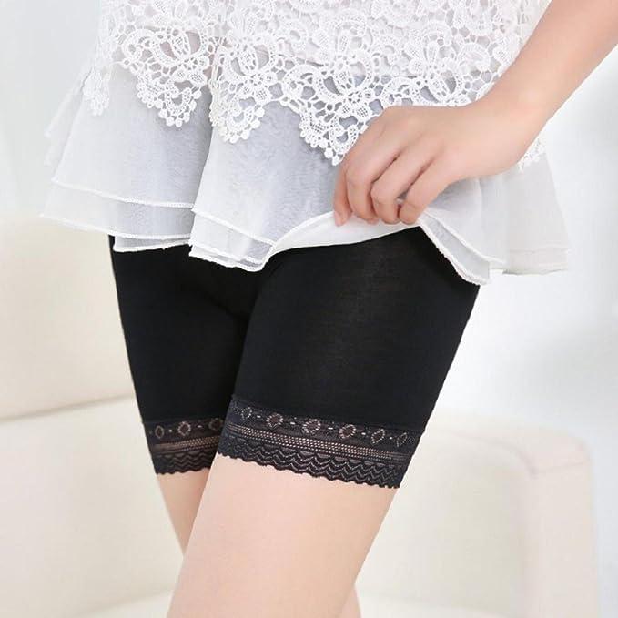 Tongshi Moda Mujer de encaje con gradas de la falda corta de la falda Bajo cortocircuitos