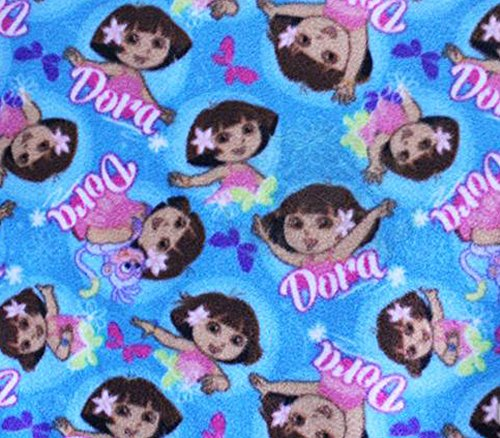 Dora The Explorer Fleece Fabric - Polar Fleece Fabric Anti Pill Prints Dora The Explorer Butterflies / 60