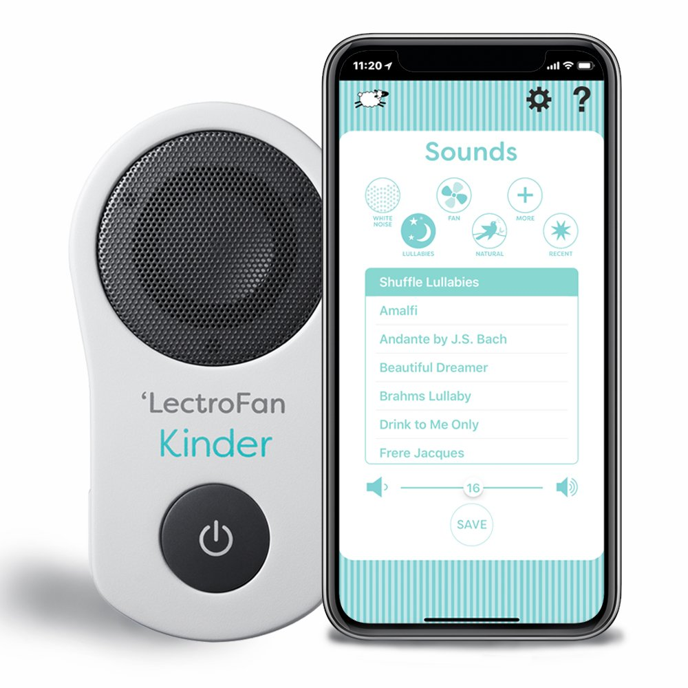 LectroFan Kinder Sleep Sound Machine and Night Light for Infants and Toddlers by Adaptive Sound Technologies