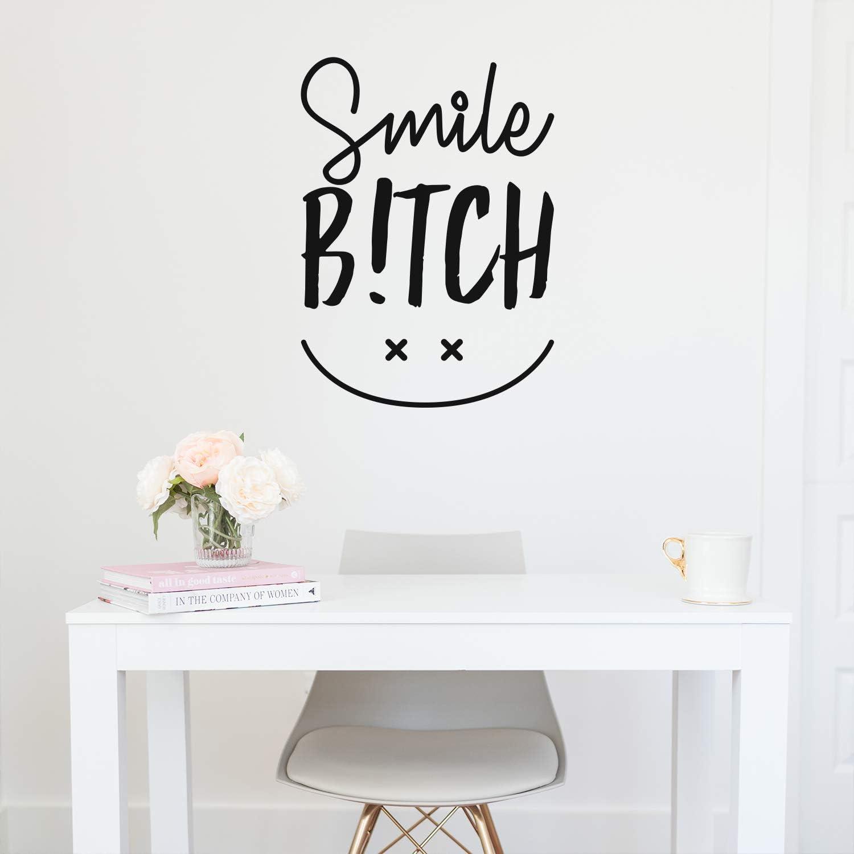 Vinyl Wall Art Decal - Smile Bitch - 30