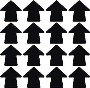 Details about  /LiteMark Removable Matte Finish Black 4 Inch X 4 Inch Round Arrow Decal Vinyl