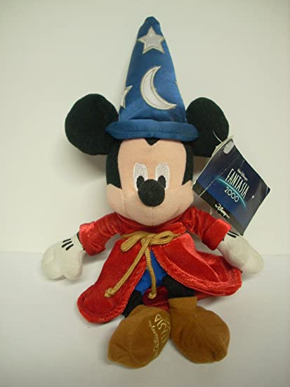 """Fantasia Disney ~ Mickey Mouse ~ Sorcerer ~ Plush 9/"""" Bean Bag Toy ~ Beanie New"""