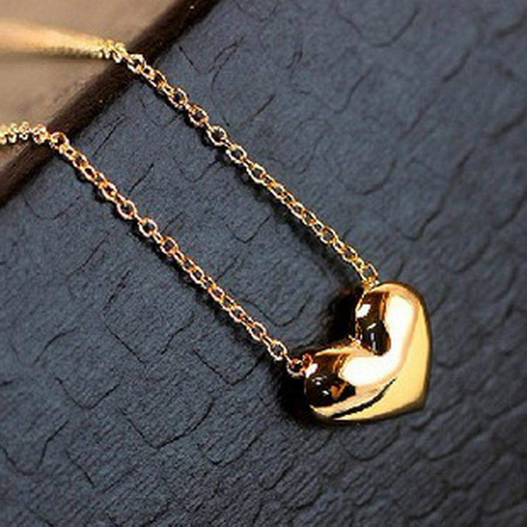 marris Alloy Heart Pendant Necklace Charm Necklace Clavicle Chain Women Jewelry Gift Pendant Necklaces