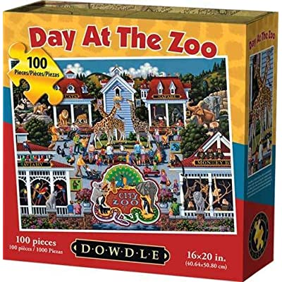 Dowdle Jigsaw Puzzle - Day at The Zoo - 100 Piece: Toys & Games