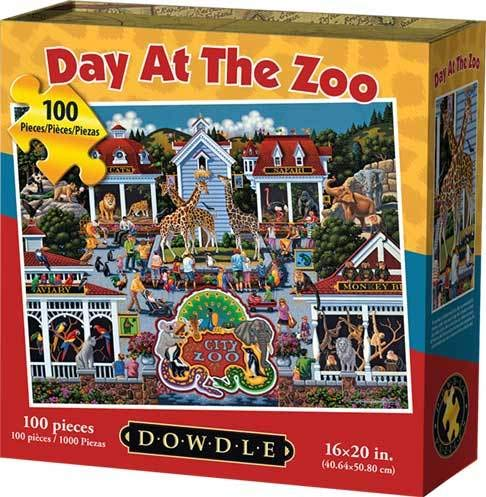 Dowdle Jigsaw Puzzle - Day at The Zoo - 100 Piece
