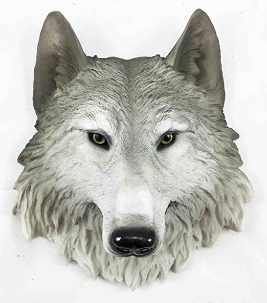 Timber Wolf Wall Plaque Hanging Figurine Home ornament