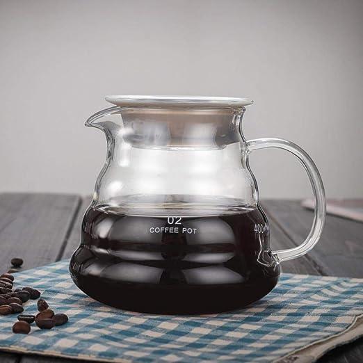 V60 Servidor de café de cocción sobre Vidrio 360/600 / 800ml Jarra ...