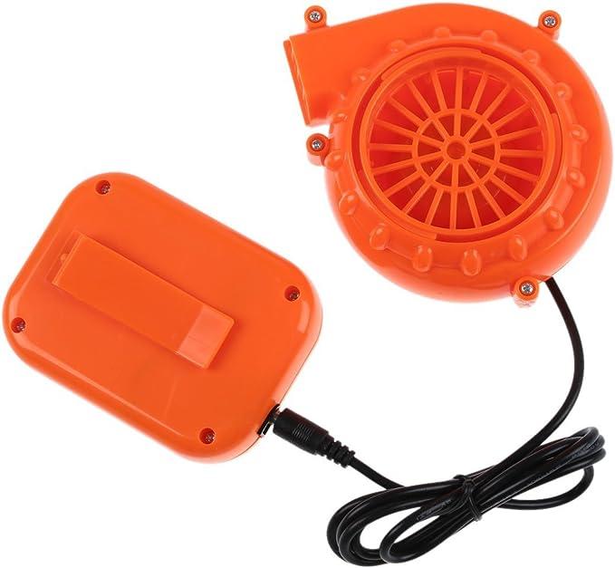 Mini ventilador - SODIAL(R)Mini ventilador Soplador para Traje inflable de cabeza de mascota 6V energizado 4xAA Bateria seca Naranja