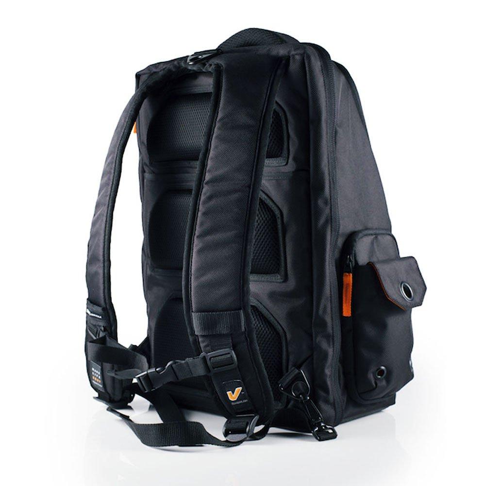 Pewter//Crimson Gruv Gear Club Bag Elite Flight-Smart Tech Backpack