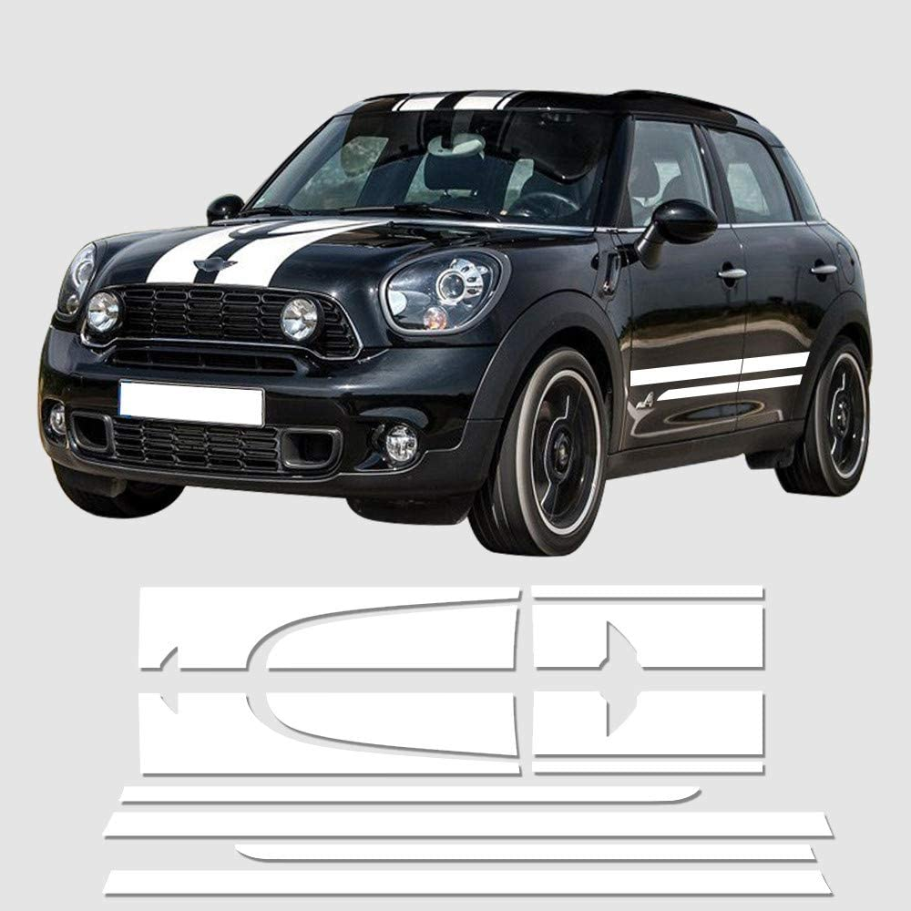 For Mini Cooper Countryman R60 Hood and Trunk Stripes Decor Decals