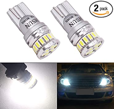 Sidelight Bulbs 3030 SMD LED 501 W5W T10 194 Canbus Xenon White For BMW Cars