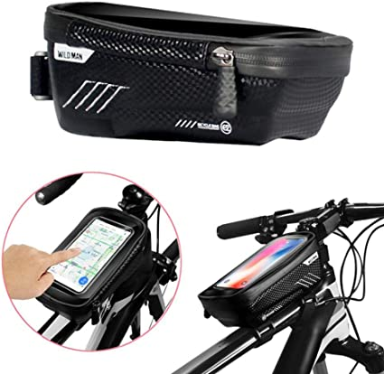 Handlebar Bags Bike Frame Bicycle Top Tube Cell Phone Waterproof Sensitive Touch