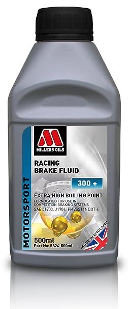 Millers Oils Racing Brake Fluid 300+ 500 ml Bottle: Amazon.co.uk: Car & Motorbike