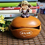 YOURNELO Cute Cratoon Little Animals Monkey Paul Frank Totoro Donkey Micro scene Resin Cigarette Ashtray for Home (Monk Look)