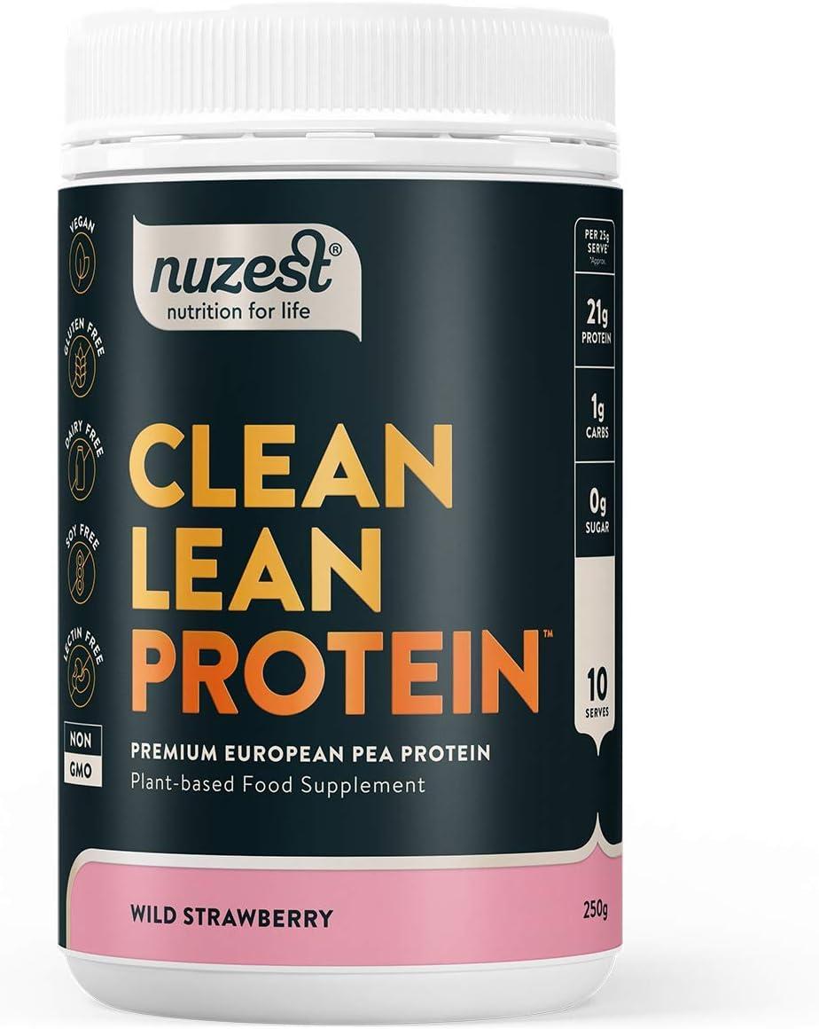 Nuzest - Proteína Premium Vegana Pura | Baja en Grasas | Proteína Vegetal de Guisante en Polvo | Sin Lácteos | Sin Gluten | Sin OGM | Edulcorada ...