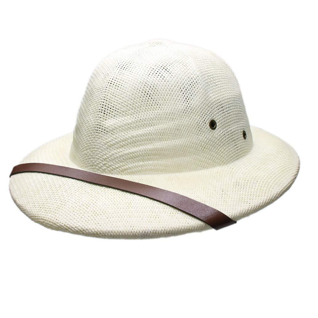 10a4d02df Ivory Loocok Novelty Women's Men's Men's Men's Hard Straw Helmet ...