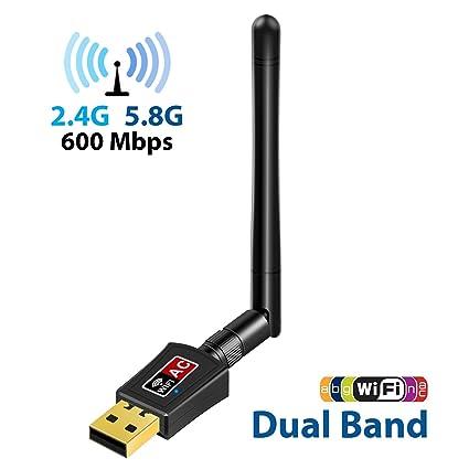 WiFi Dongle with Antenna, EKSEN Dual Band 2.4G/5G Wireless WiFi Dongle Adapter
