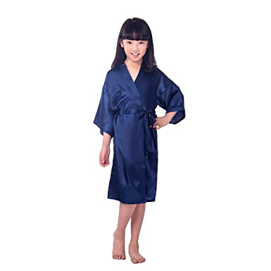 CuteOn CuteOn Kinder Kids Satin Seide Kimono Robe Bademantel ...