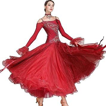 MDWDQ Mujeres Waltz Vestidos Falda de Baile Moderno ...