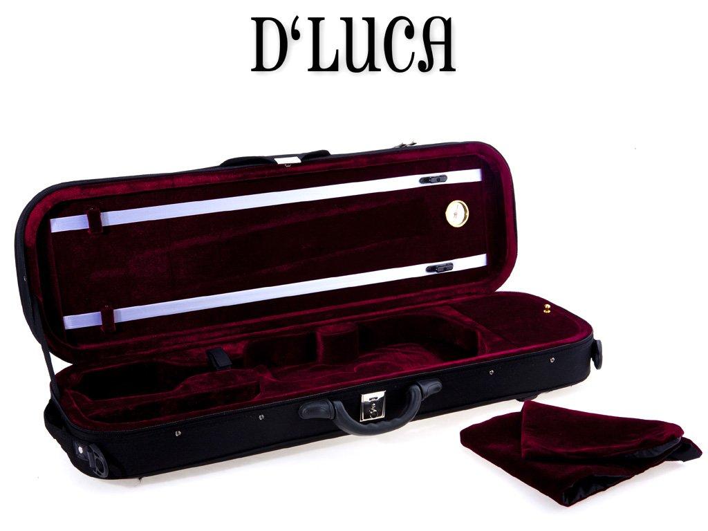 D'Luca VC-380 Oblong Full Size Violin Case with Hygrometer