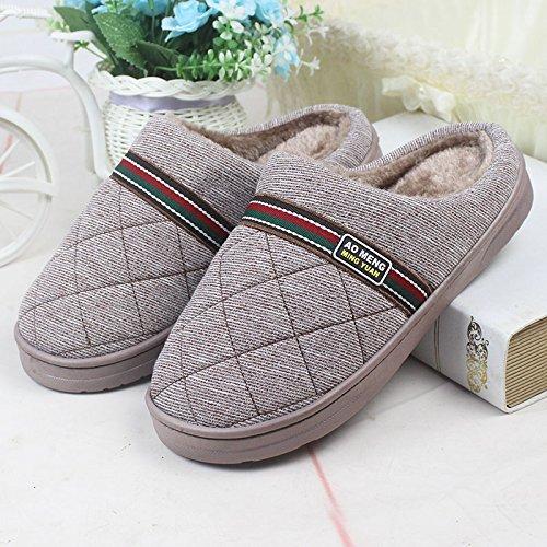 Coppie fankou home scarpe moquette del pavimento pantofole di cotone