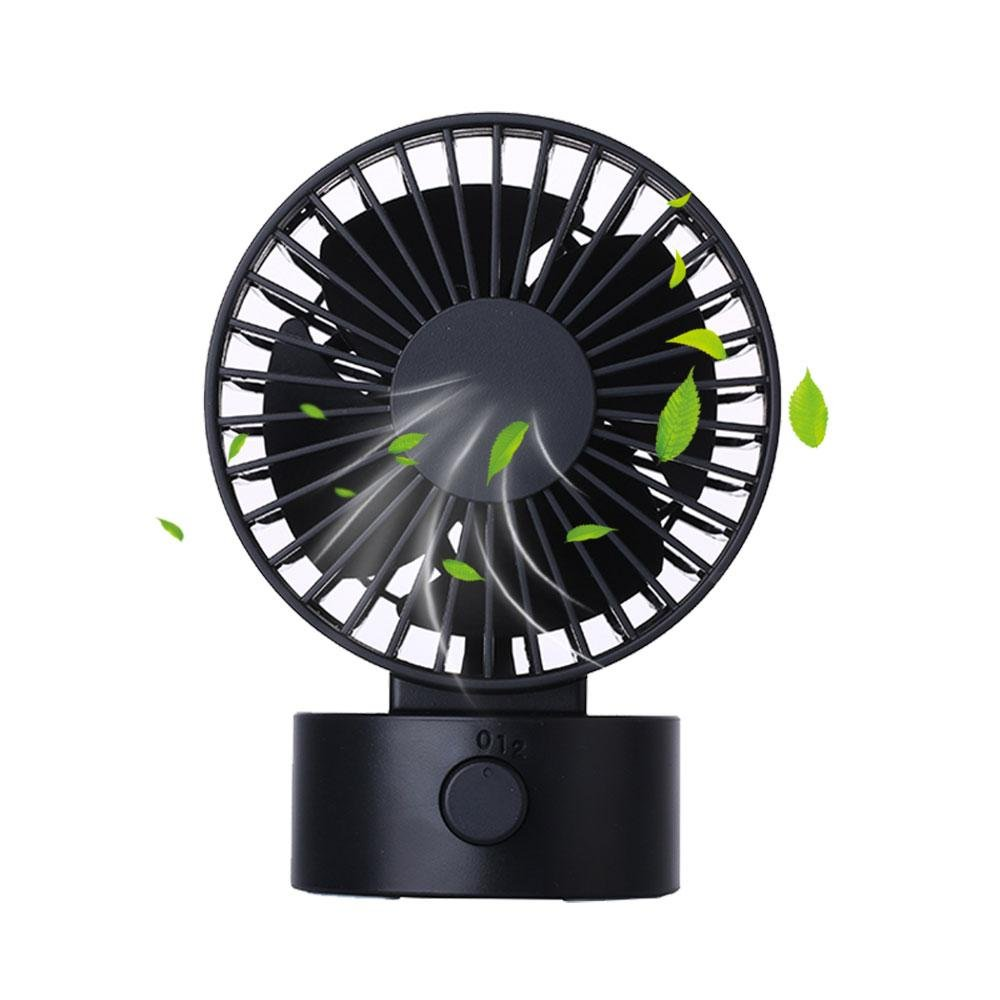 Mini USB Table Desk Personal Fan - Teepao Portable Small Quiet Fan 2 Speed Modes Dual Motor 7 Blades Simulate Natural Wind for Room Office Desktop (3.9