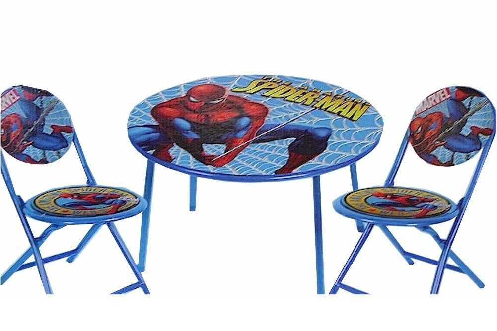 Enjoyable The Amazing Spider Man Spiderman 3 Piece Folding Table Chair Set Andrewgaddart Wooden Chair Designs For Living Room Andrewgaddartcom