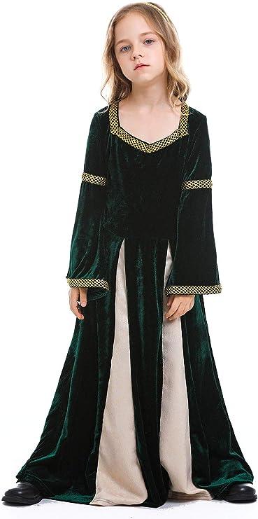 icewalker Disfraz Medieval Infantil Vestido de Lujo Reina de Las ...