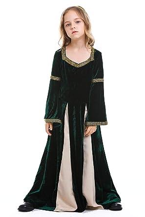 icewalker Disfraz Medieval Infantil Vestido de Lujo Reina de ...