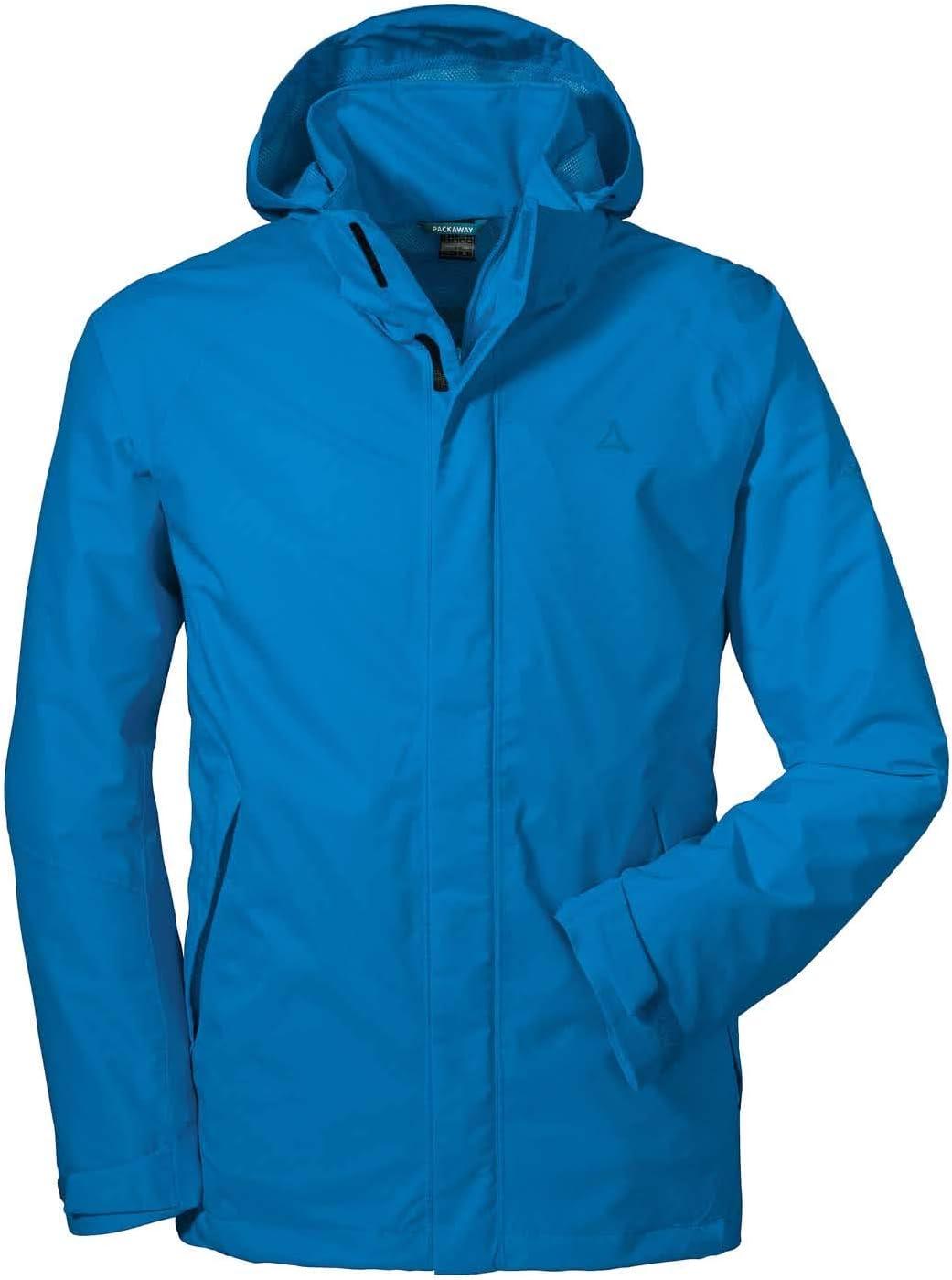 und wasserdichte Herren Jacke mit Pack-Away-Tasche leichte und atmungsaktive Regenjacke f/ür M/änner Sch/öffel Herren Jacket Easy M4 wind