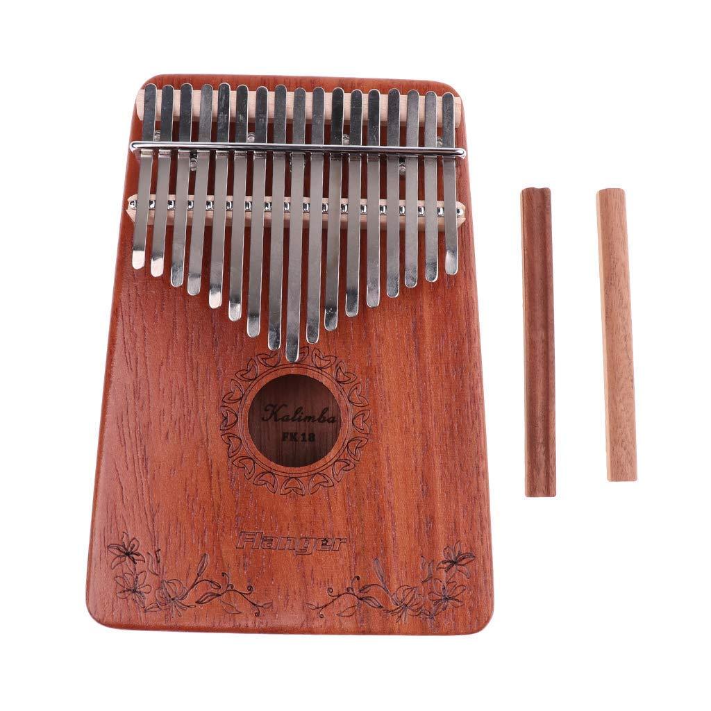 Puente de madera para amantes de la m/úsica SGerste Kalimba dise/ño de piano 2 unidades, 17 notas