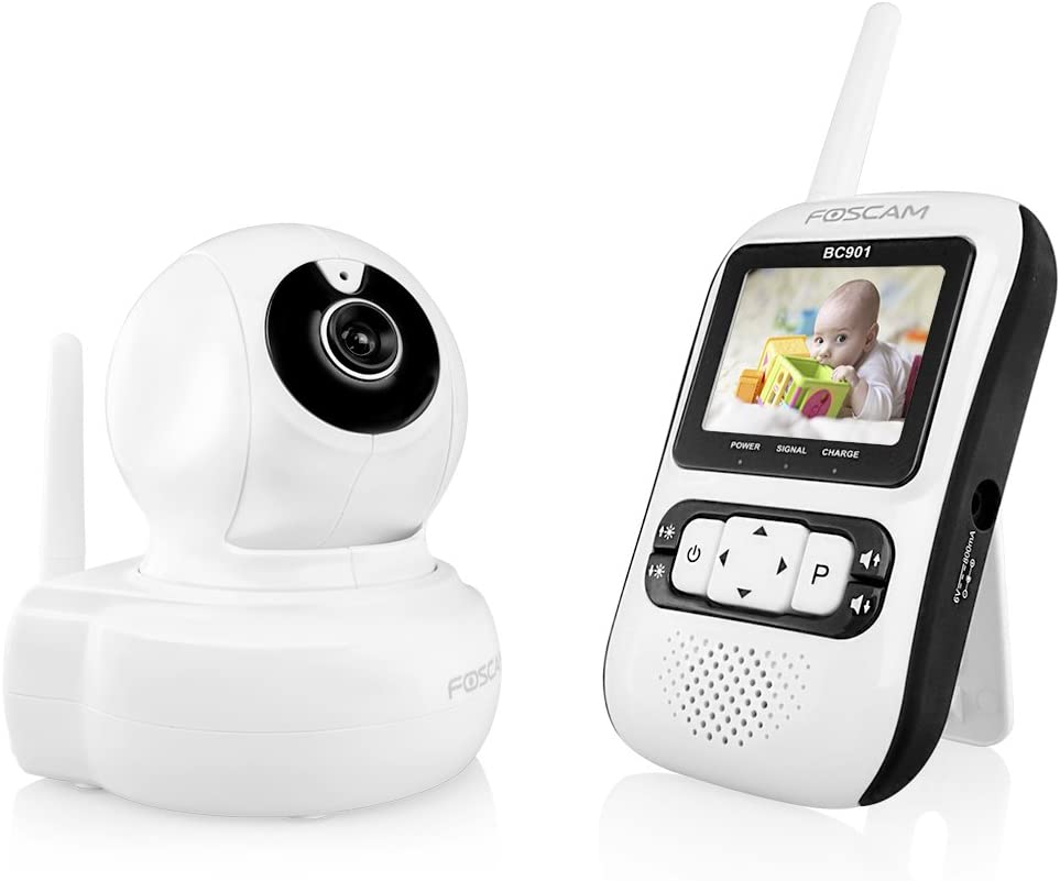 Foscam Baby Monitor Surveillance Camera, White/Black (BC901)