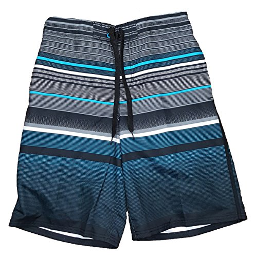 op-black-w-blue-stripe-eboard-at-knee-22-outseam-swim-short-trunks-small