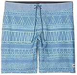 Reef Men's Tribe Boardshort 19'' 4 Way Stretch Performance Fit, Light Blue, 30
