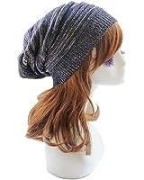Sandistore hot sale Unisex Knit Baggy Beanie Beret Winter Warm Oversized Ski Cap Hat (Blue)